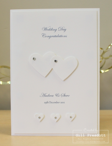 Wedding card for Andrea and Ste