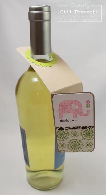 Saleabration Thanks a ton bottle tag