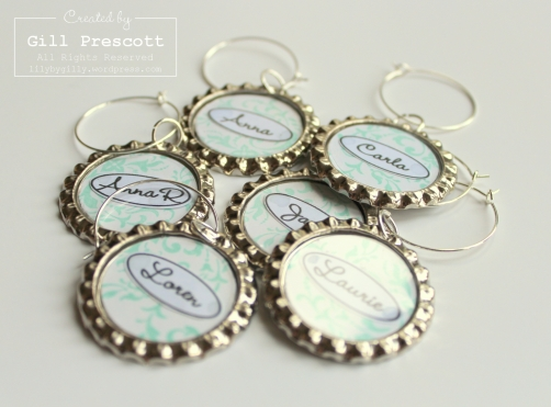 Tiffany Wine glass charms