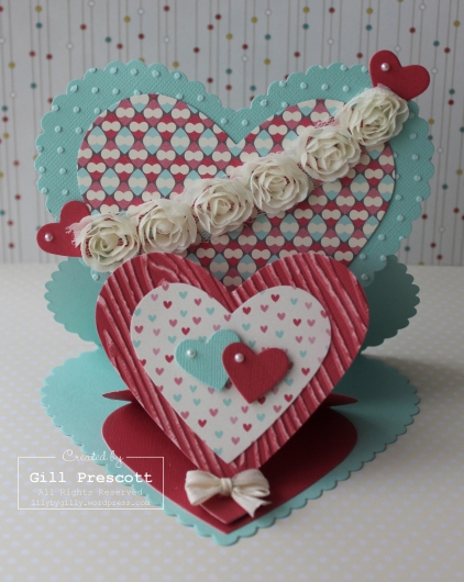 Valentine double easel card