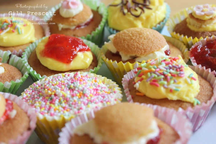 Red nose day colourful cupcakes