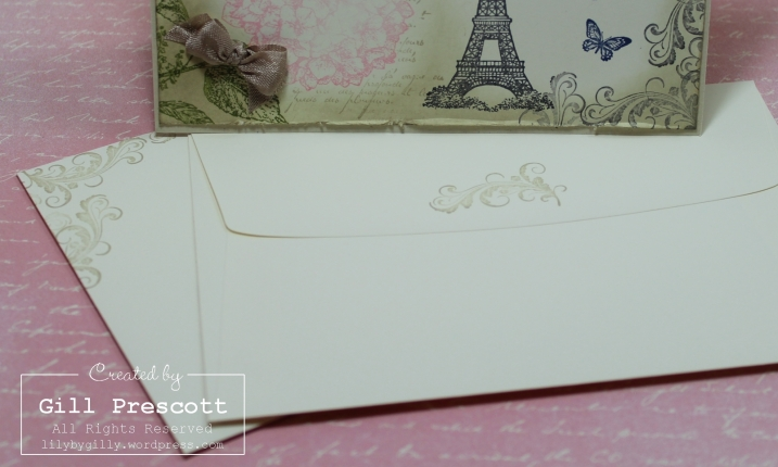 A vintage wedding envelopes