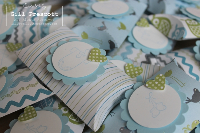 Baby shower pillow boxes