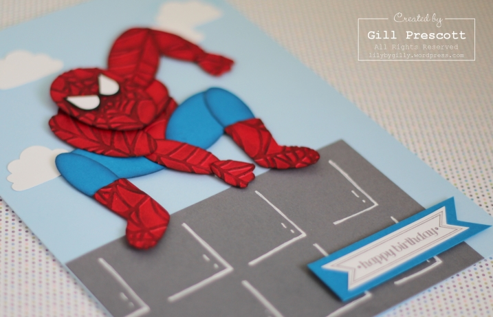 Punch art Spiderman close up