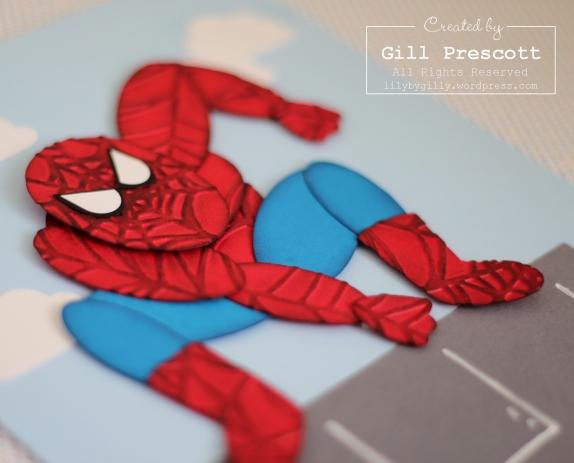 Spiderman close up