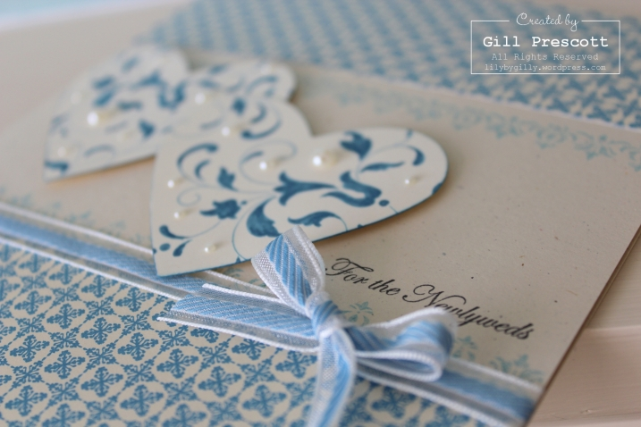 Amys wedding card close up