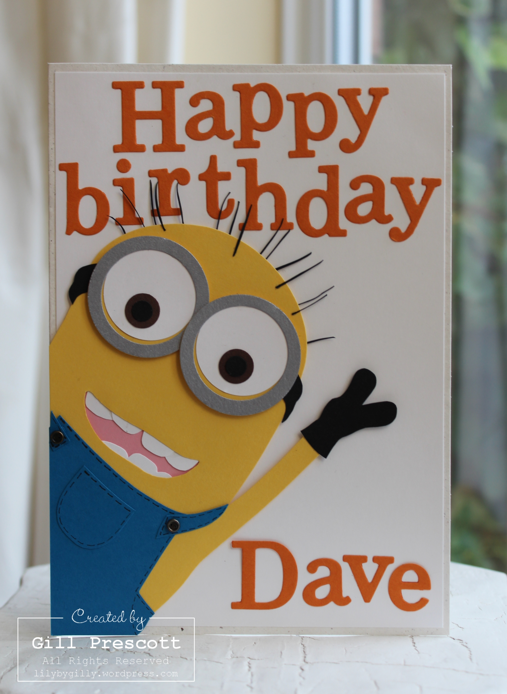 Despicable Me Minion Card Lily By Gilly