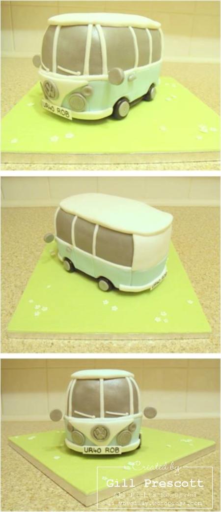 Robs 40th VW camper van cake