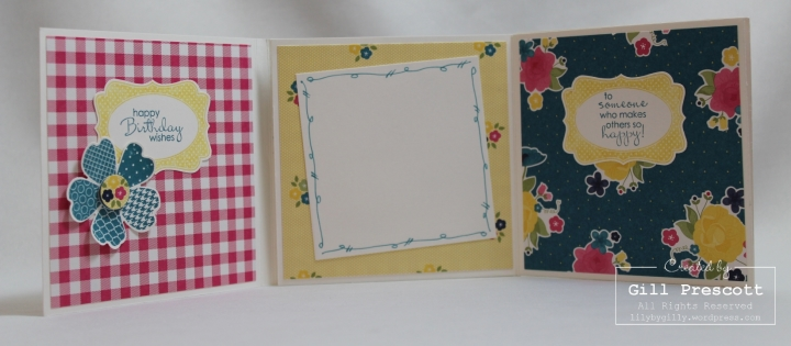 Mini album pages 1, 3 and 4