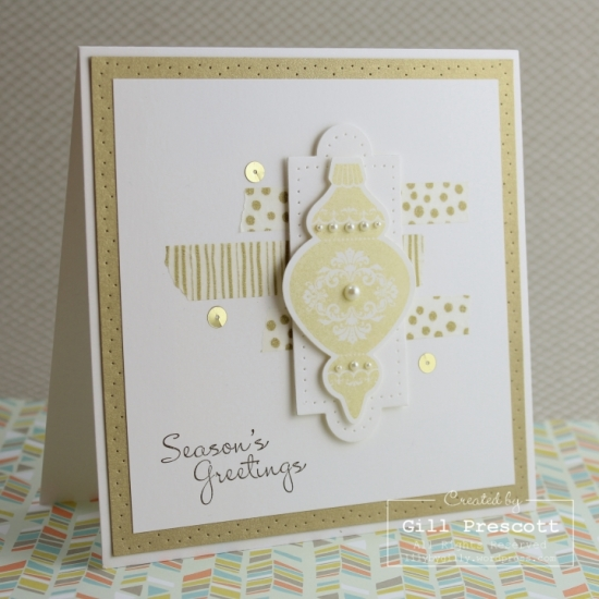 Stampin' Up Ornament keepsakes Christmas card by Gill Prescott www.lilybygilly.wordpress.com