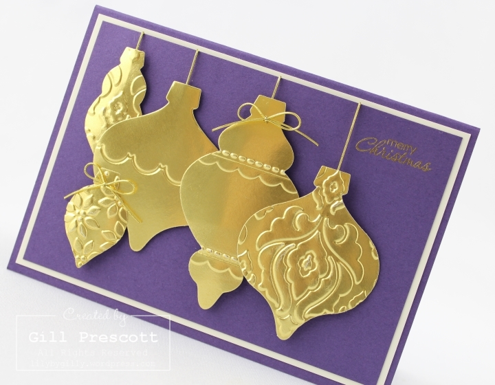 golden holiday ornament 2