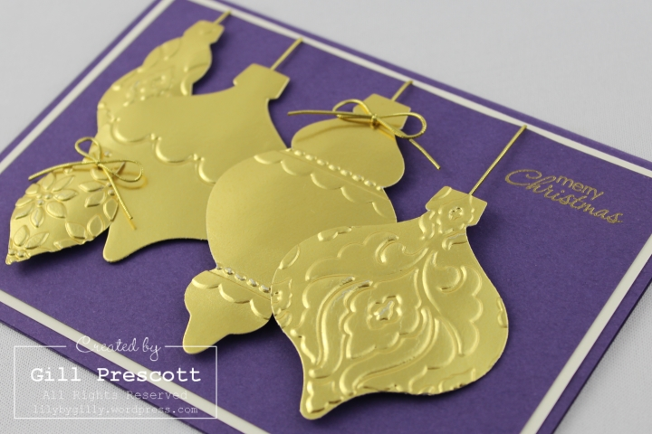 golden holiday ornament 3