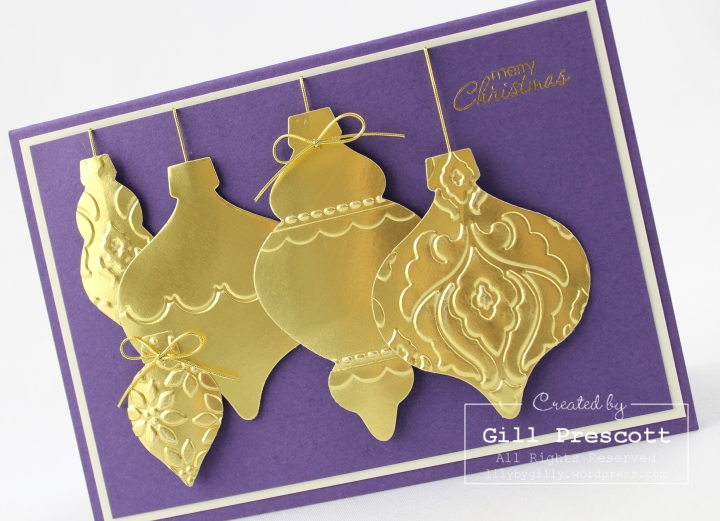 golden holiday ornament 5