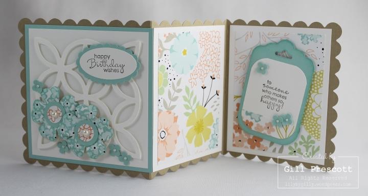 Sweet sorbet z fold birthday card