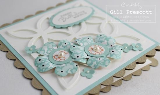 Sweet sorbet z fold card flowers