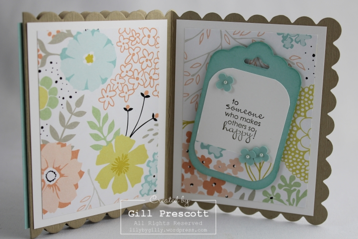 Sweet sorbet z fold card inside