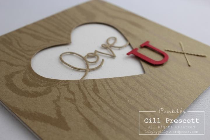 Wooden Heart Valentine 3