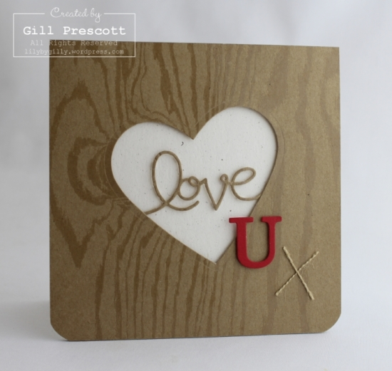 Wooden Heart Valentine