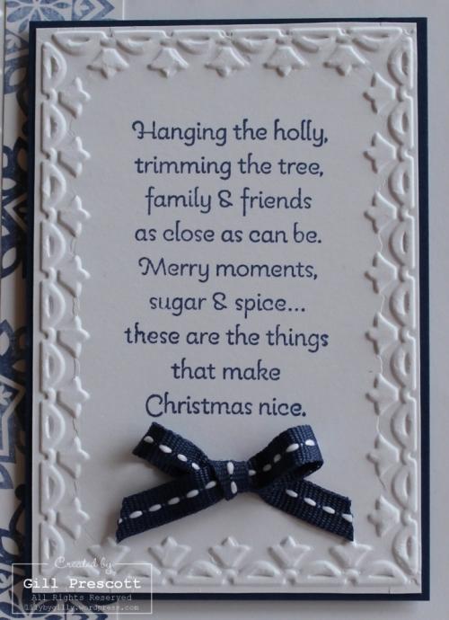Christmas easel verse