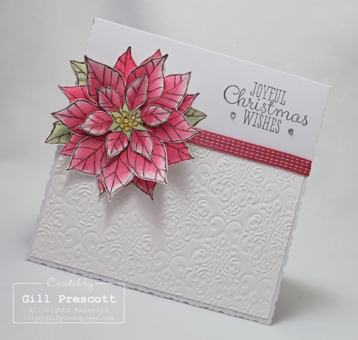Joyful Christmas by Stampin Up embossing detail