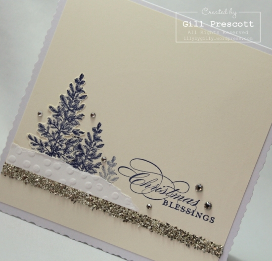 Lovely as a tree Christmas - glass glitter