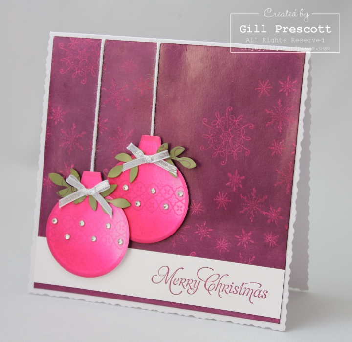 Ornament keepsakes from Stampin Up side view