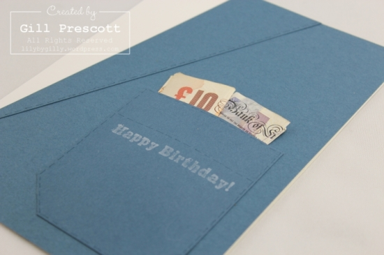 Suit pocket gift card