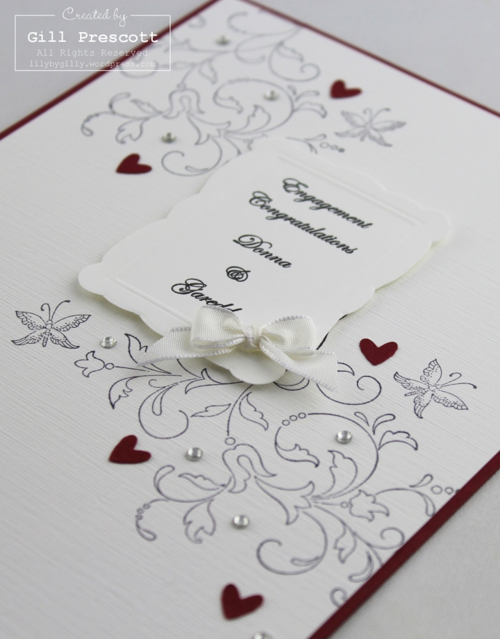Creative elements engagement card close up