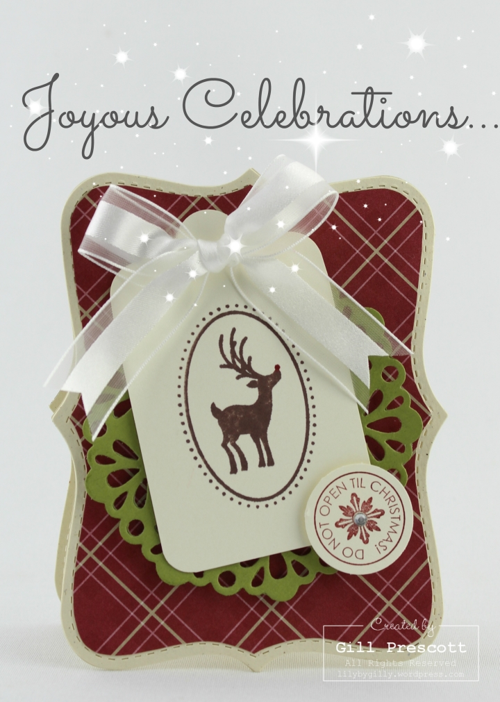 Joyous celebrations card by Stampin Up