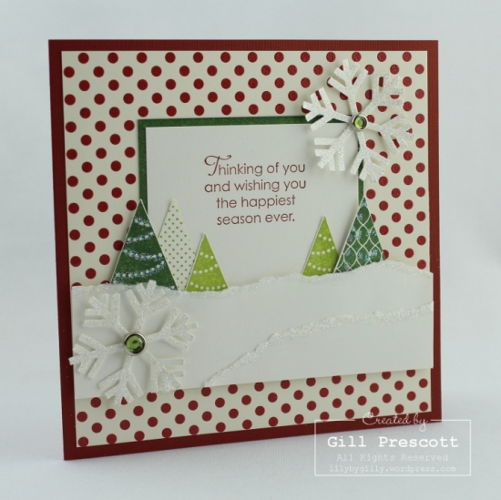More merry messages by Stampin Up 52CCT June colour challenge