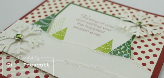 More merry messages by Stampin Up close up