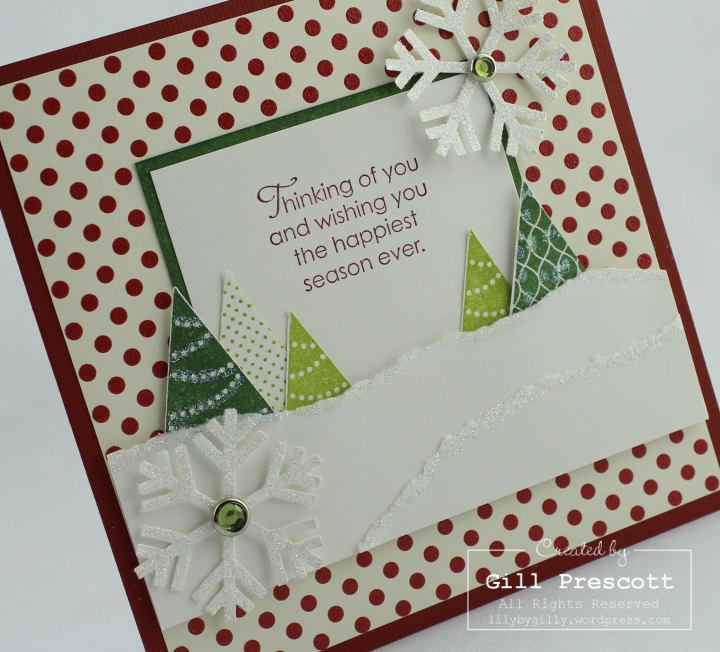 More merry messages by Stampin Up left