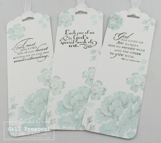 stippled blossoms two step stamping by Stampin Up blues