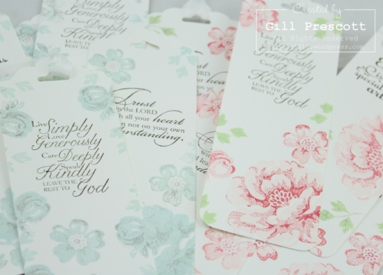 stippled blossoms two step stamping by Stampin Up pink and blue