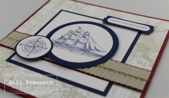 The Open Sea Fathers day card close up