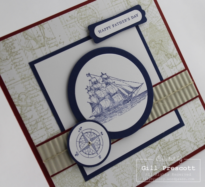 Happy Fathers' Day with the open sea by Stampin' Up ...