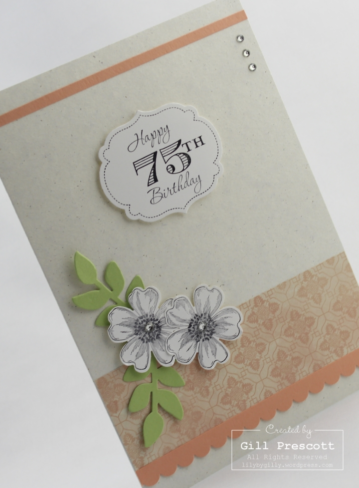 Venetian romance birthday by Stampin Up left
