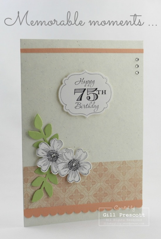 Venetian romance birthday card by Stampin Up