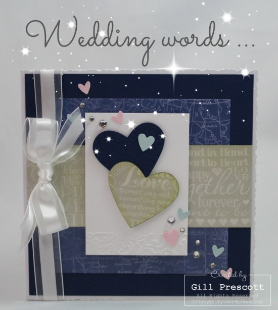 Wedding words wheel by Stampin Up