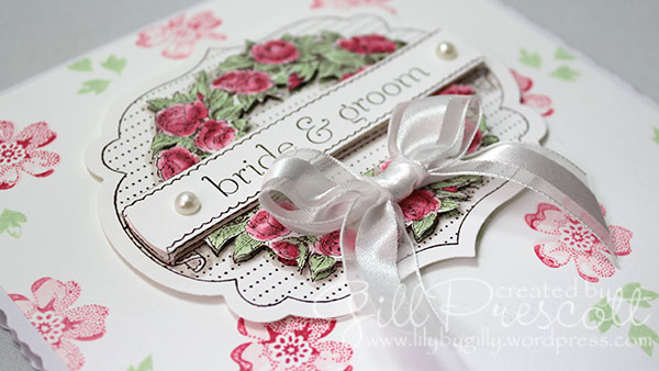 Apothecary art and stippled-blossoms-wedding-card details