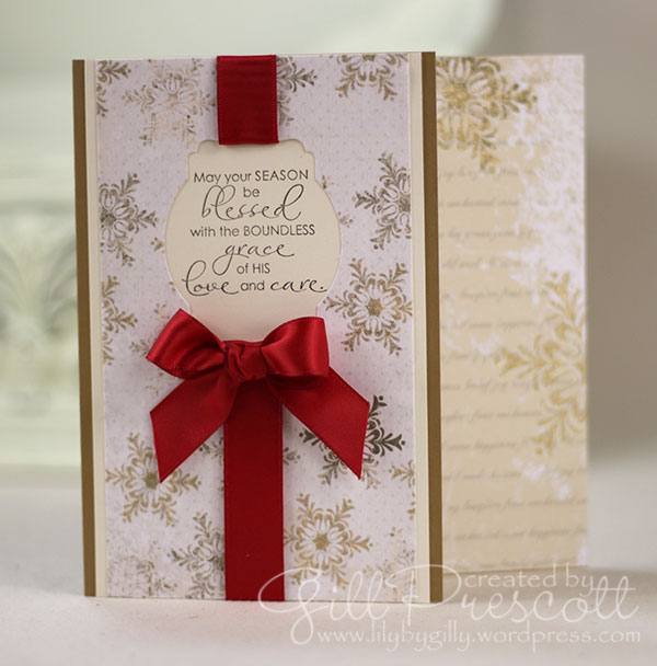 Christmas blessings stamp set by Stampin' Up!